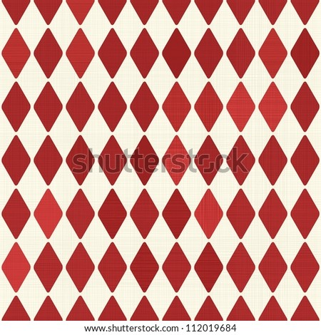 Seamless retro red harlequin background - stock vector