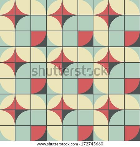 seamless retro style vector pattern - stock vector