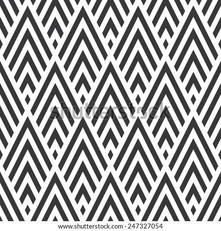 Seamless rhombic chevrons art deco pattern vector - stock vector