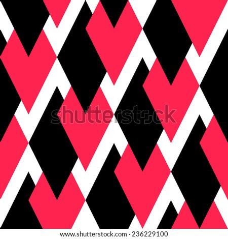 Seamless Rhombus Background. Vector Geometric Texture - stock vector