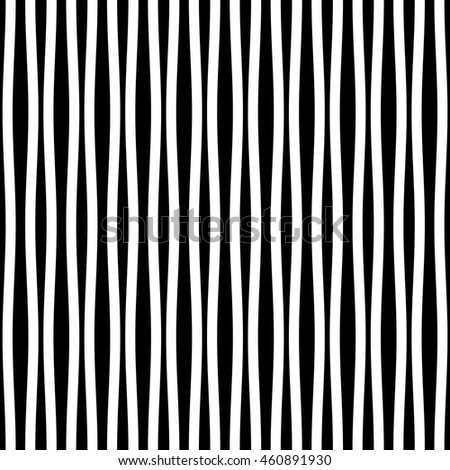 Seamless ripple pattern. Repeating vector texture. Striped minimalistic rippled background. Modern striped texture. - stock vector
