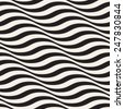 Seamless ripple pattern. Repeating vector texture. Wavy graphic background. Simple wave stripes - stock photo