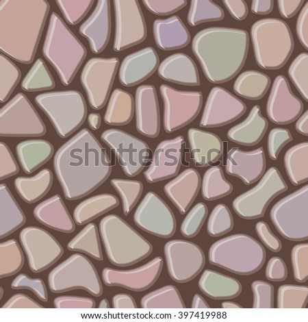 Seamless rock wall abstract pattern. Vector illustration - stock vector