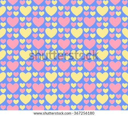 Seamless romantic hearts pattern. Design element for wedding invitation, Valentine's Day cards, wallpapers, web site background, baby shower invitation, birthday card, scrapbooking, fabric print etc. - stock vector