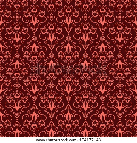 Seamless romantic vintage pattern