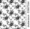 seamless roses pattern artwork for t-shirt - stock vector