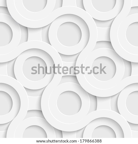 Seamless 70s Disco Design. Grey Modern Circles Background. Vector Abstract Grid Background. 3d Layout Geometric Texture