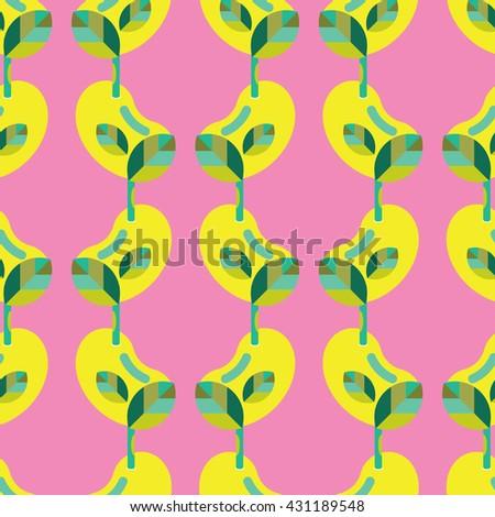 Seamless Sapling pattern vector, Sapling pattern, Sapling vector - stock vector
