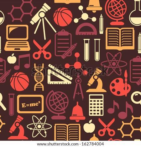 Seamless school background  - stock vector