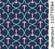 Seamless sea pattern.marine theme - stock vector