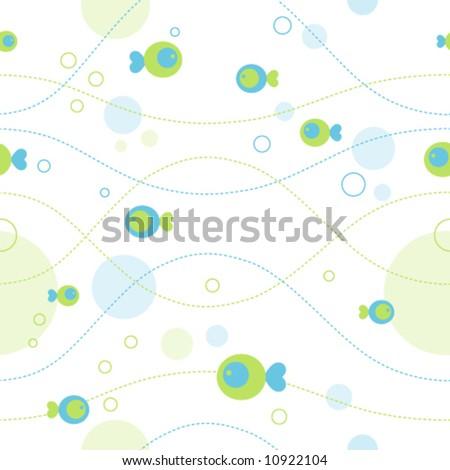 Seamless sea pattern (vector) - stock vector