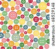 Seamless sewing buttons colorful pattern - stock photo