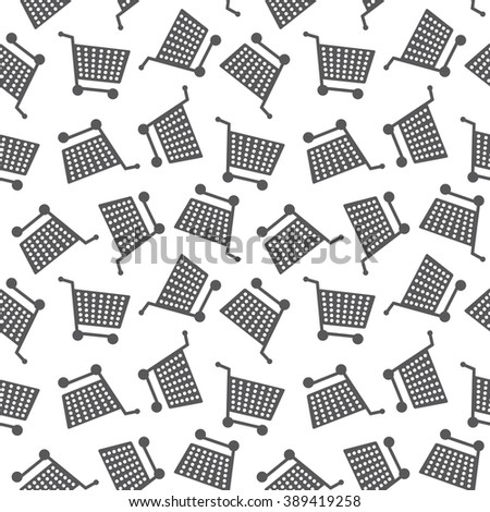 Seamless Shopping Cart Pattern Background Texture