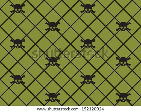 Seamless Skull & Crossbone Pattern - stock vector