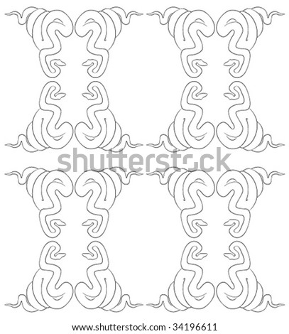seamless snake pattern - stock vector