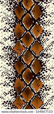 Seamless snake pattern. Vector illustration - stock vector