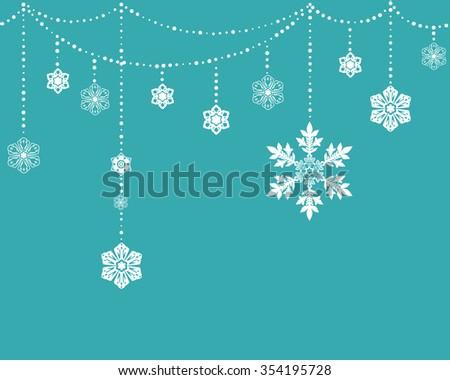 Seamless Snowflake Background - stock vector