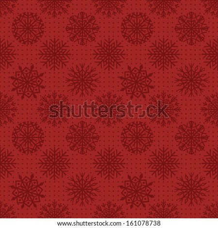 Seamless snowflakes background for winter and christmas theme.  - stock vector