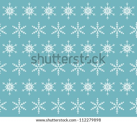 seamless snowflakes background.  Vector illustration - stock vector