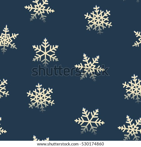 Seamless snowflakes pattern for winter Christmas holidays