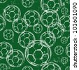 seamless soccer pattern, background - stock photo