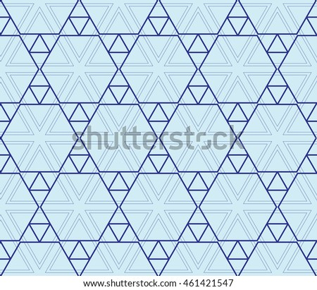 seamless sophisticated geometric pattern based on repetitive simple forms. vector illustration. for interior design, backgrounds, card, textile industry. blue coloring