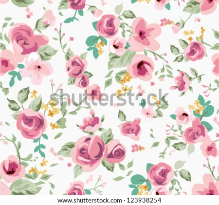 seamless spring cute tiny vintage floral ,flower pattern background - stock vector