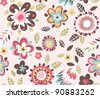 seamless spring floral pattern background - stock vector