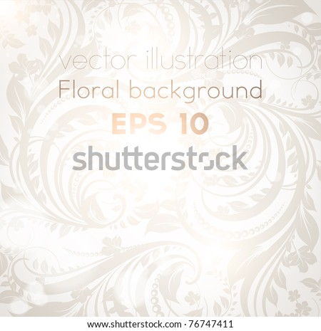 Seamless spring or summer wallpaper, vector background for design. eps 10. Free place for text. - stock vector