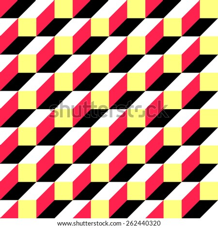 Seamless Square and Stripe Pattern. Vector Regular Texture