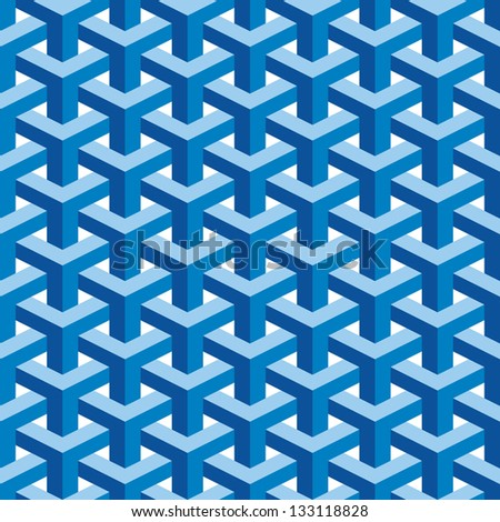Seamless Square Escher Pattern Background - stock vector