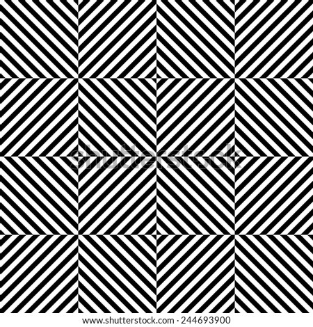 Seamless Square Pattern. Abstract Monochrome Background. Vector Regular Texture - stock vector