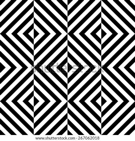 Seamless Square Pattern. Black and White Regular Texture - stock vector