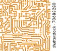 Seamless square texture - the vector electronic printed-circuit board - stock vector