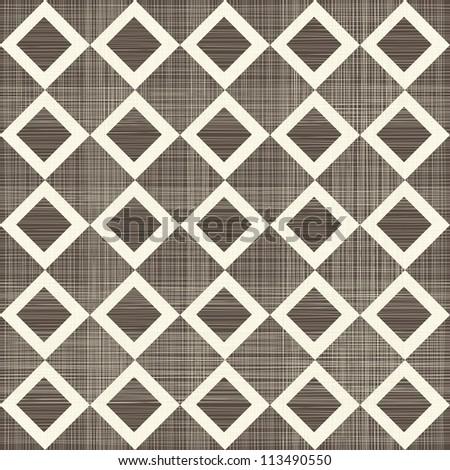 seamless squares retro pattern - stock vector