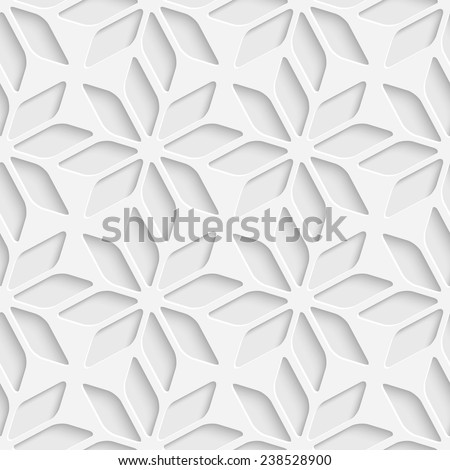 Seamless Star Pattern. Vector Background. White Regular Texture - stock vector
