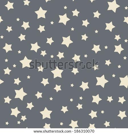 Seamless stars pattern - stock vector
