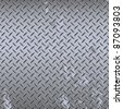Seamless steel diamond plate vector - stock photo