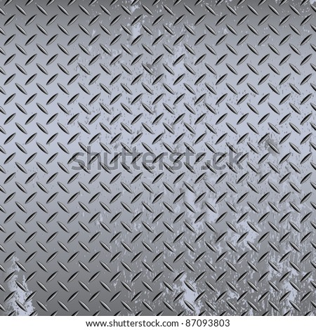 Seamless steel diamond plate vector - stock vector