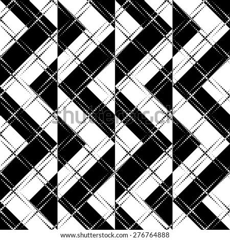 Seamless Stripe Pattern. Vector Monochrome Texture - stock vector
