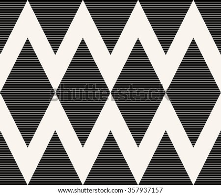 seamless striped monochrome chevron pattern.