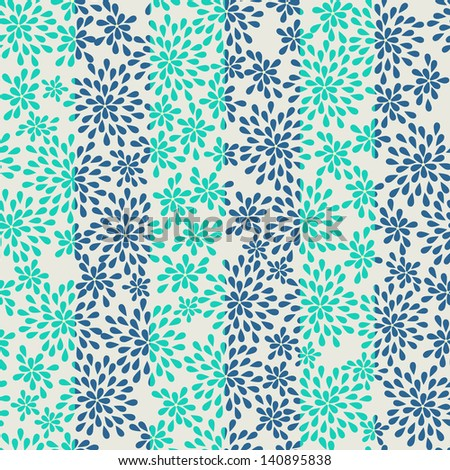 seamless striped pattern from abstract flowers - stock vector