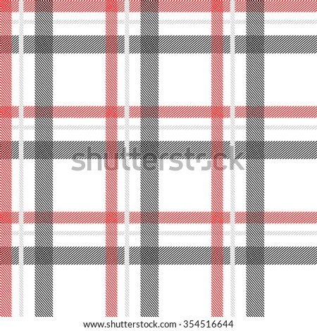 Seamless stripped fabric pattern. Retro textile collection. Grey, red, white. Backgrounds & textures shop. - stock vector