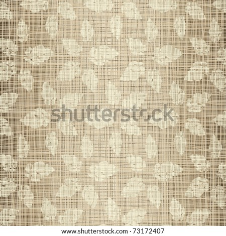 Seamless structure Beige leaves against a linen cloth - stock vector