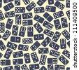 Seamless stylish dominoes pattern. Vector illustration - stock vector