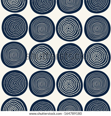 Seamless stylish hand drawn pattern. Vector illustration - stock vector