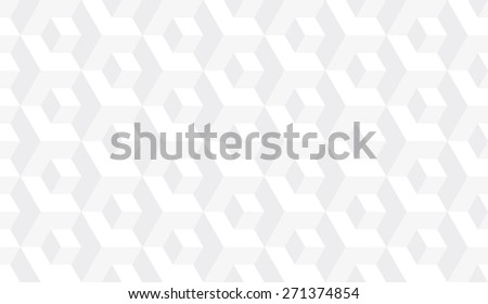 Seamless subtle gray op art isometric cubes illusion pattern vector - stock vector