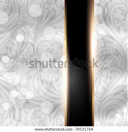 Seamless summer bright flower wallpaper, vector background, Silk. White. eps 10 - stock vector