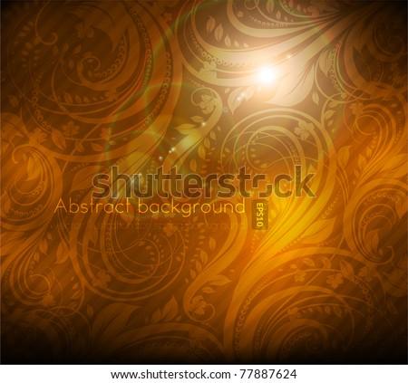 Seamless summer wallpaper, vector background for design. eps 10. - stock vector