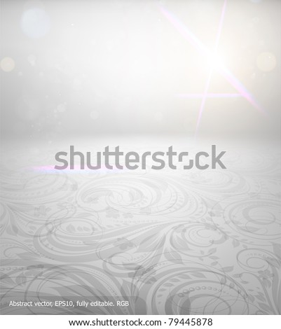 Seamless summer wallpaper, vector background for design. Free place for text. - stock vector